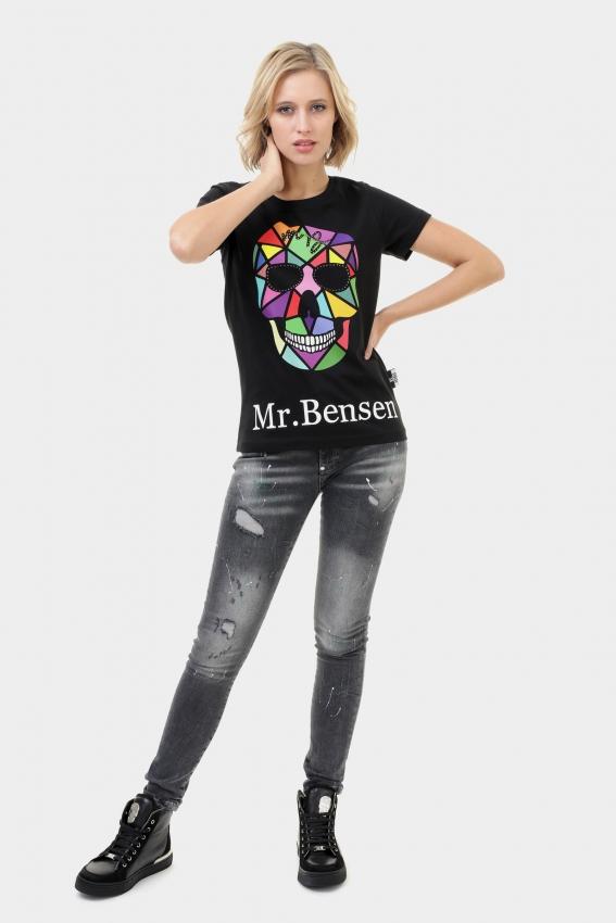 Mr. Bensen Colorful Skull Shirt Women