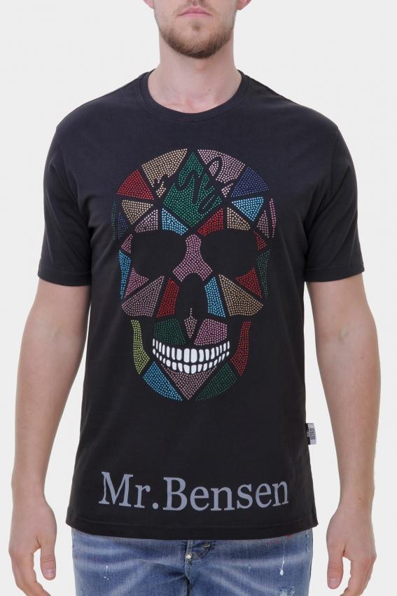 Mr. Bensen Colorful Skull Diamond Shirt Men